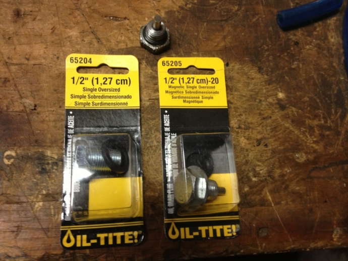new self tapping oil drain plugs